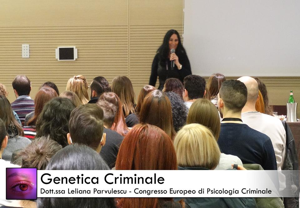 leliana parvulescu fa una lezione di genetica criminale al congresso europeo di psicologia criminale
