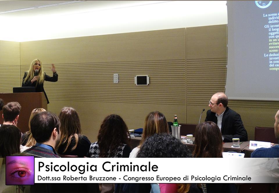 roberta bruzzone ha partecipato al congresso europeo di psicologia criminale