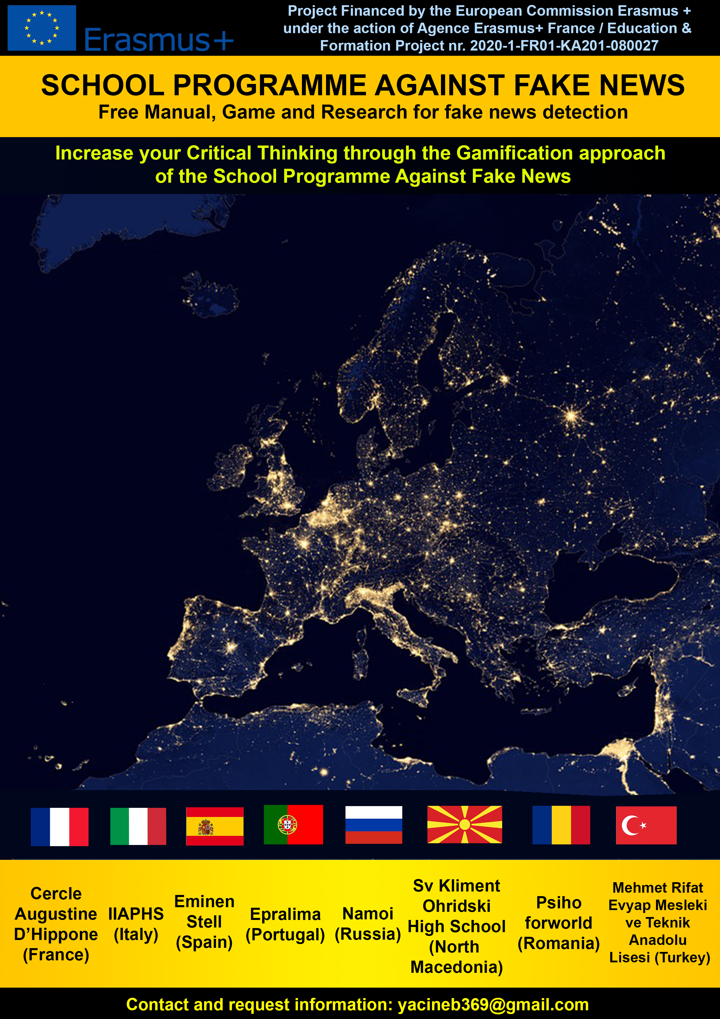 progetto europeo fake news poster school programme against fake news